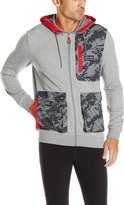 Puma Men's RBR Hooded Sweat Jacket, Gray Heather, M