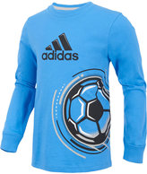 adidas Soccer Graphic-Print Cotton Shirt, Little Boys (4-7)