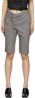 Ottolinger Grey Twisted Bermuda Shorts