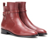Balenciaga Papier Leather Ankle Boots