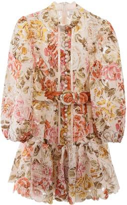 Zimmermann Embroidered Mini Dress