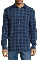 Lucky Brand Plaid Cotton Casual Button-Down Shirt