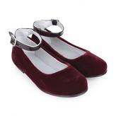 Stuart Weitzman Stuart WeitzmanGirls Red Velvet Ankle Strap Shoes