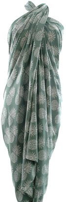 Extra Wide Pineapple Batik Sarong in Easy Green New for Spring 2017