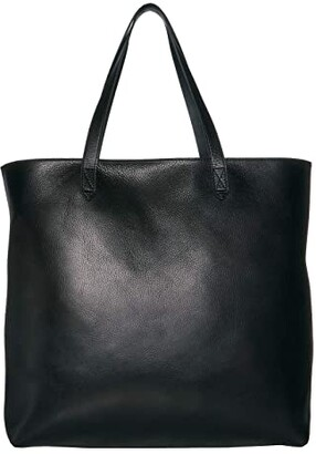 Madewell Zip Top Transport Tote (True Black) Tote Handbags