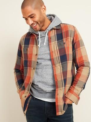 Old Navy Regular-Fit Plaid Twill Shirt Jacket for Men