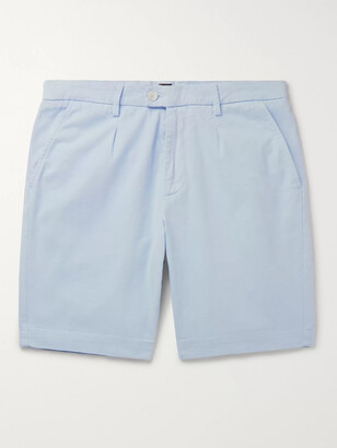 HUGO BOSS Pleated Stretch-Cotton Shorts