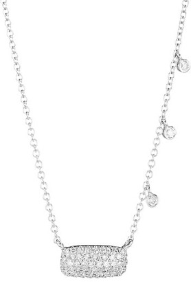 Meira T 14K White Gold Diamond Bar Charm Necklace