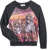 Jessica Simpson Leopard Graphic-Print Top, Big Girls (7-16)