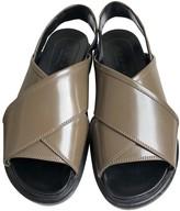 Marni Khaki Patent leather Sandals