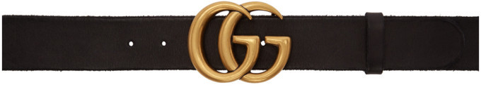 Gucci Black GG Toscano Belt