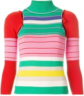 John Galliano Pre Owned removable sleeves knitted blouse