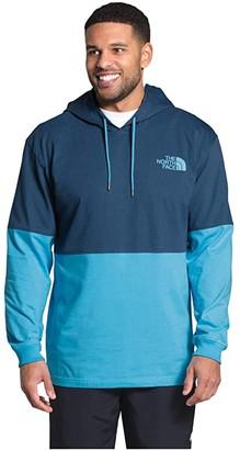 The North Face Heavyweight Half Half Pullover Hoodie (Mango Orange/Twill Beige) Men's Clothing