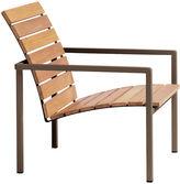 Janus et Cie Natal Alu Outdoor Lounge Chair, Earth