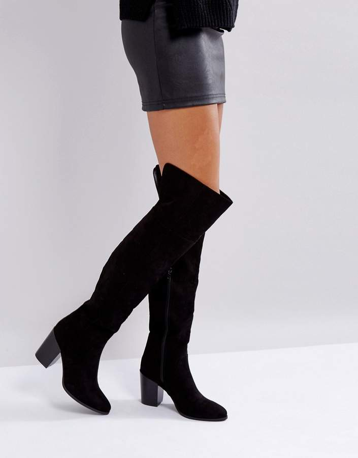London Rebel Heeled Over The Knee Boot