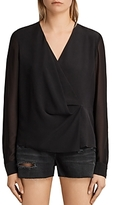 AllSaints Nile Silk Top