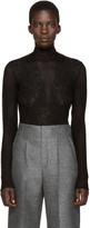 Lanvin Black Stretch Lace Top