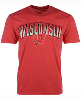 Colosseum Men's Wisconsin Badgers Gradient Arch T-Shirt