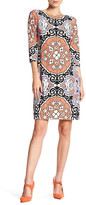Maggy London MJ Bavarian Scroll Printed Dress
