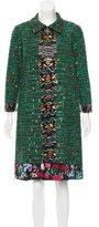 Oscar de la Renta Embellished Knee-Length Coat