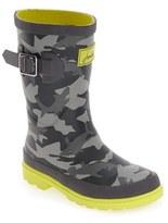 Joules Toddler Boy's Welly Print Waterproof Rain Boot