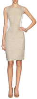 Magaschoni Textured Boucl e& Luxe Sheath Dress