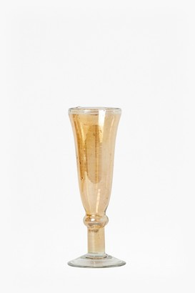 French Connection Luxe Recycled Glass Blush Champagne Flute