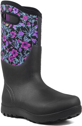 Bogs Neo Classic Tall Vine Floral Waterproof Rain Boot