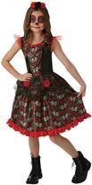 Very Childs Red Rose Day Of The Dead Halloween Costume (9-10 Years)