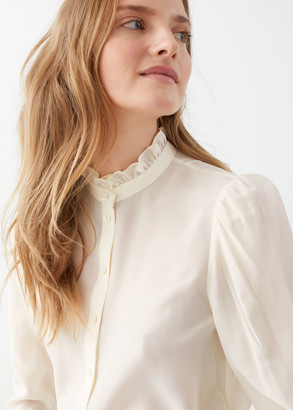 And other stories Ruffle Collar Silk Shirt