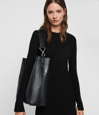 AllSaints Nina North South Leather Tote Bag