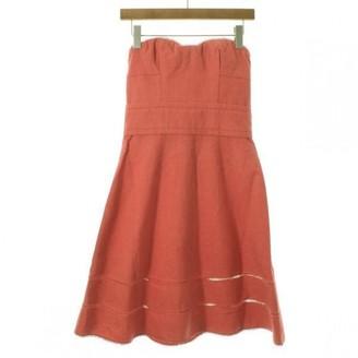 Louis Vuitton Orange Linen Dresses