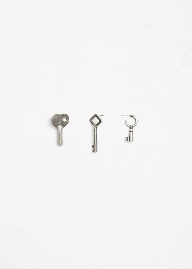 Ann Demeulemeester Key Earring Set