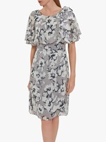 Thumbnail for your product : Gina Bacconi Mahra Floral Chiffon Dress, Grey