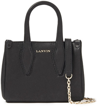 Lanvin Micro Journee Metallic Leather Tote