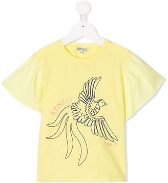Kenzo Kids TEEN Johanna embroidered T-shirt
