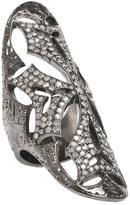 Loree Rodkin Cigar ring with diamonds