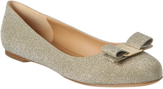 Salvatore Ferragamo Vara Bow Glitter Ballet Flat