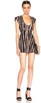 Roberto Cavalli Denim Printed Mini Dress