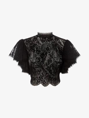 Alexander McQueen Lace Crop Top