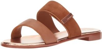 Ted Baker Women's IJOE SUED AF TAN Sandal 5 M US