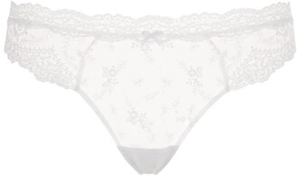 Aubade Sheer Embroidered Briefs