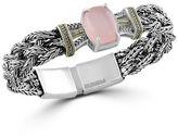 Effy Rose Quartz, Diamond, Sterling Silver and 18K Yellow Gold Bracelet