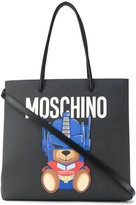 Moschino teddy bear logo tote bag - women - Polyurethane - One Size