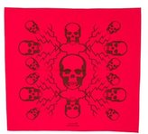 Lucien Pellat-Finet Skull Print Square Scarf