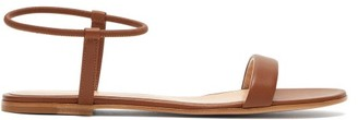 Gianvito Rossi Jaime Leather Flat Sandals - Womens - Tan