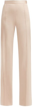 Pallas X Claire Thomson-jonville - Eclair High-rise Crepe Trousers - Womens - Light Pink