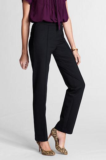 Lands' End Women's Regular Fit 3 Ponté Slim Pants