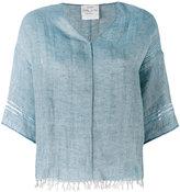 Forte Forte V-neck shirt - women - Linen/Flax - 0