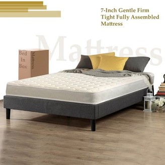 """Wayton, 7-Inch Special Size Medium Firm Tight top High Density Poly Foam Rolled Mattress for RV, Cot, Folding Bed & Daybed, Good For The Back, 75"""" X 36"""""""